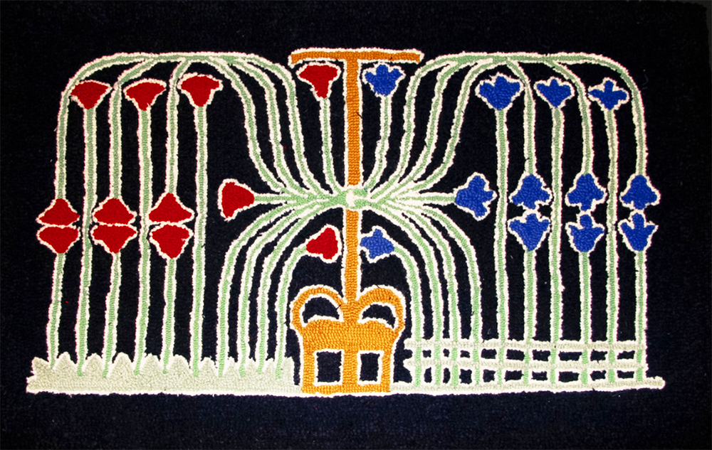 Royal Crown wool hooked rug
