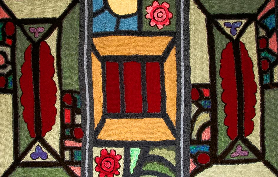 Jewels wool hooked rug
