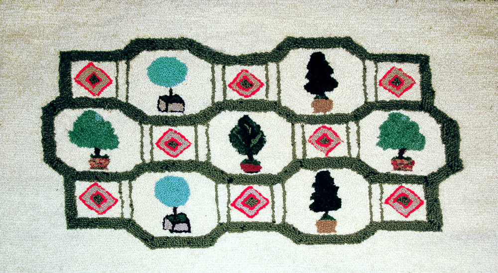 Tiny Home wool hooked rug