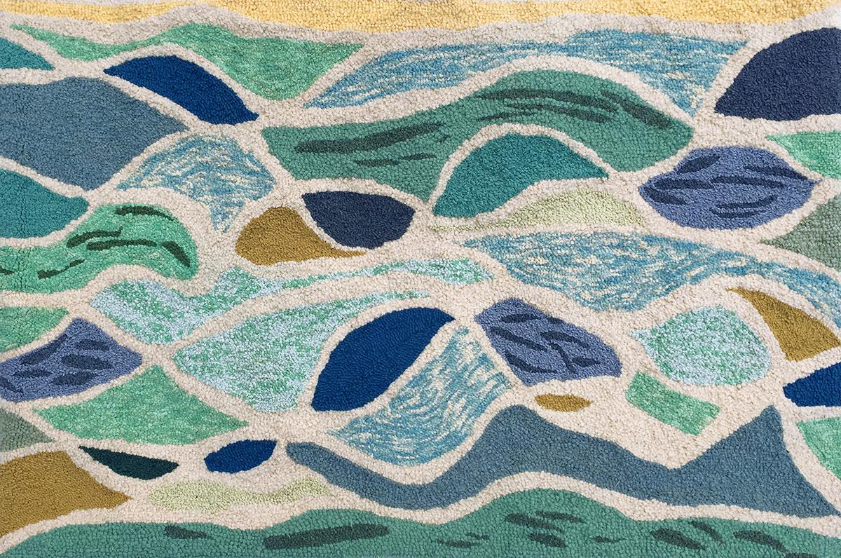 Sarasota wool hooked rug